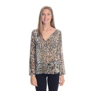 Zara snakeskin animal print silky loose shirt XS